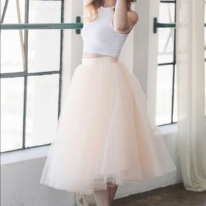"""Space 46 Boutique Blush 30"""" Tulle Skirt"""